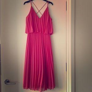 ASOS Design Pleated Crop Top Midi Dress Size 2